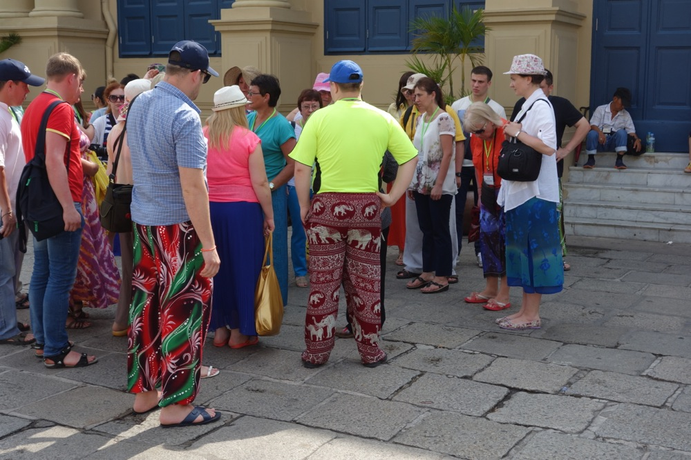 Elephants pants that tourists in Thailand, Vietnam, Laos or Cambodia wear