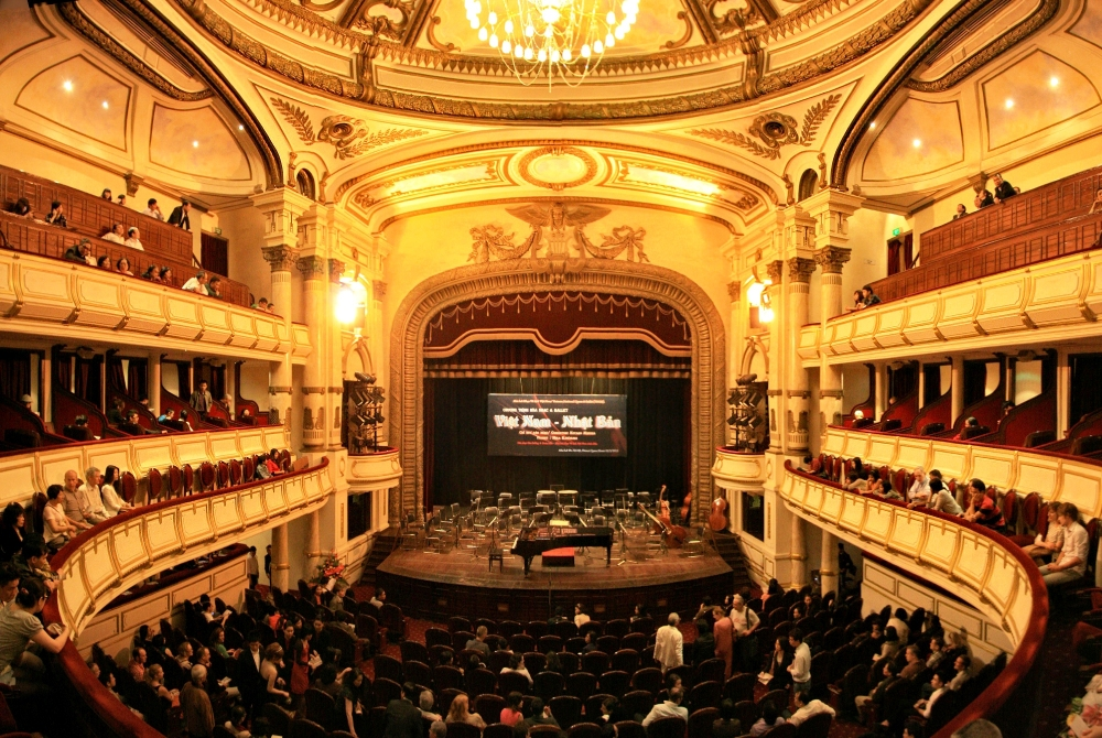 A picture captured inside Hanoi Opera House near Trang Tien St. near the Old Quarters of Hanoi