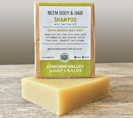 neem tea trea hair shampoo and soap